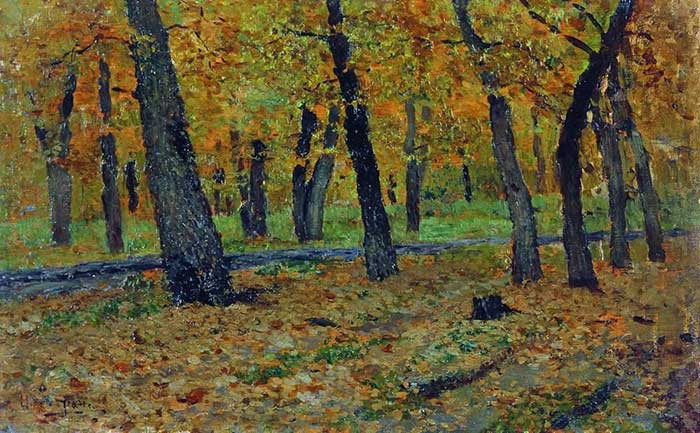 Isaac Levitan, Oak Grove, Autumn, 1880