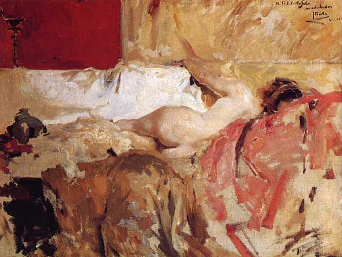 Principios de arte - Joaquín Sorolla, Bacante, 1886