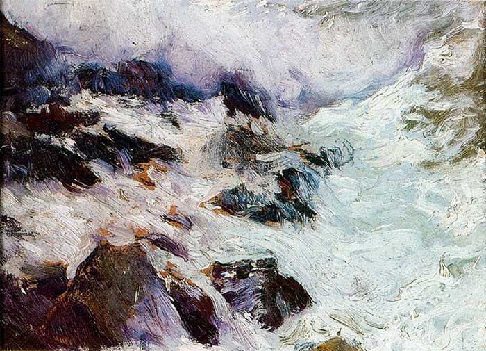 Joaquín Sorolla, Sea And Rocks - Javea, 1900