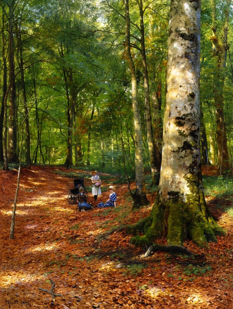 Peter Mork Monsted, The Woodland Glade
