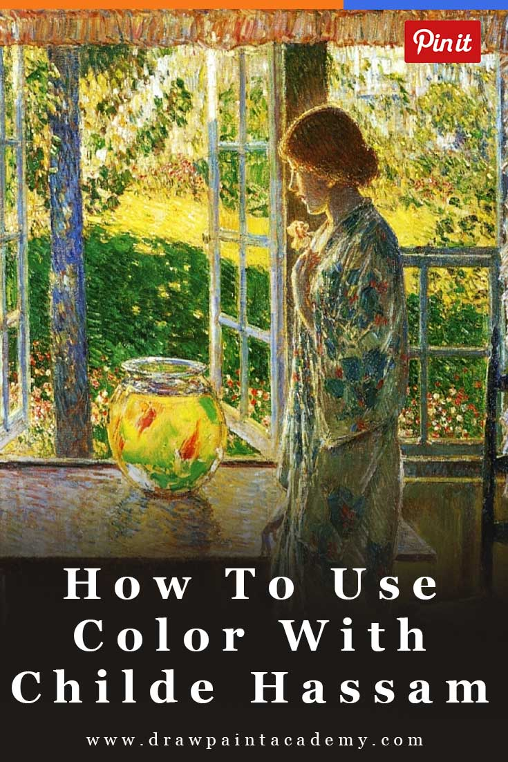 A Demonstration Of How To Use Color By Childe Hassam | Impressionism | Oil Painting | Color Palette | #color #painting