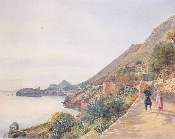 Rudolf von Alt, View Of Ragusa, 1841