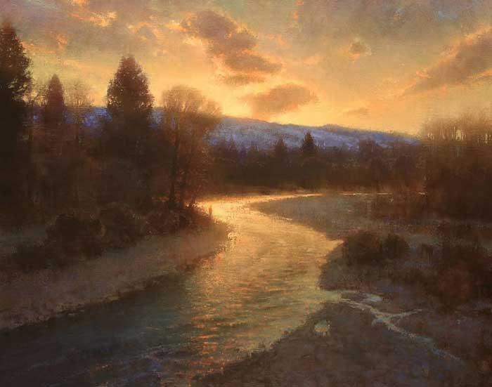 Brent Cotton, Dawn Breaking Over The West Fork