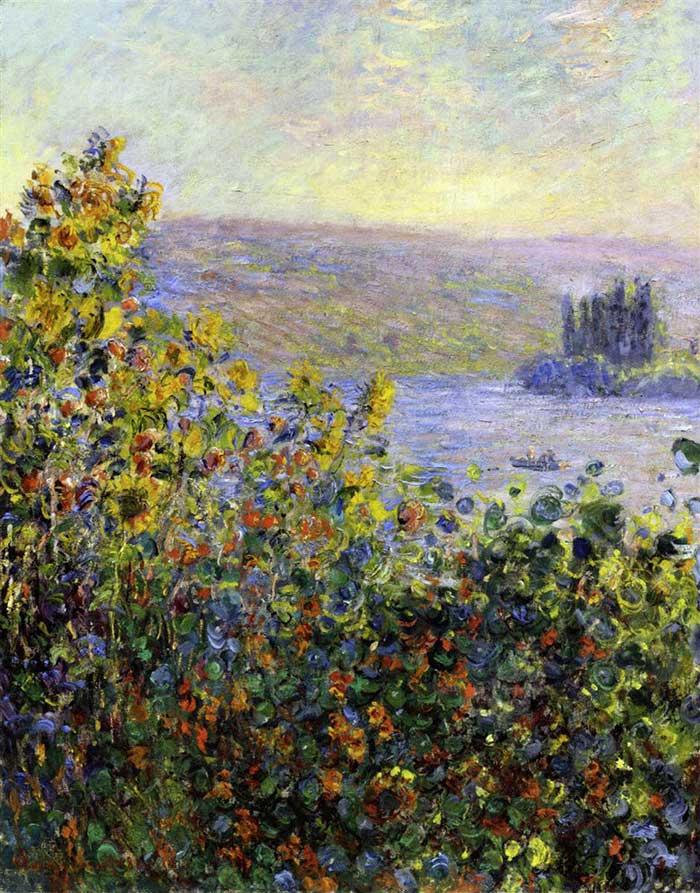 Claude Monet, macizos de flores en Vetheuil, 1881