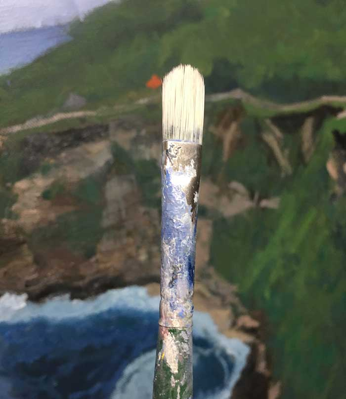 Filbert Paint Brush