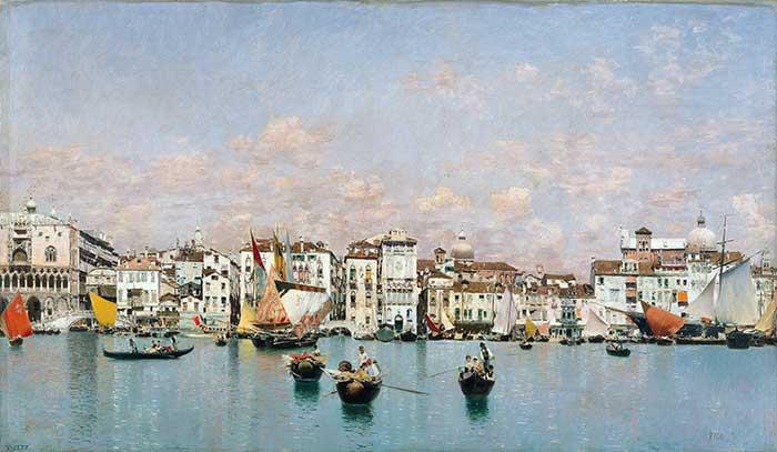Martin Rico, La Riva Degli Schiavoni En Venecia, 1873 | Cityscape Painting | Realistic Painting