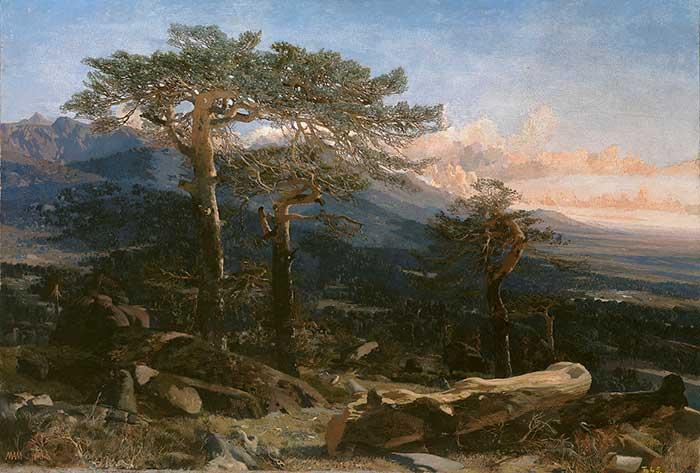 Martin Rico, Landscape, 1858