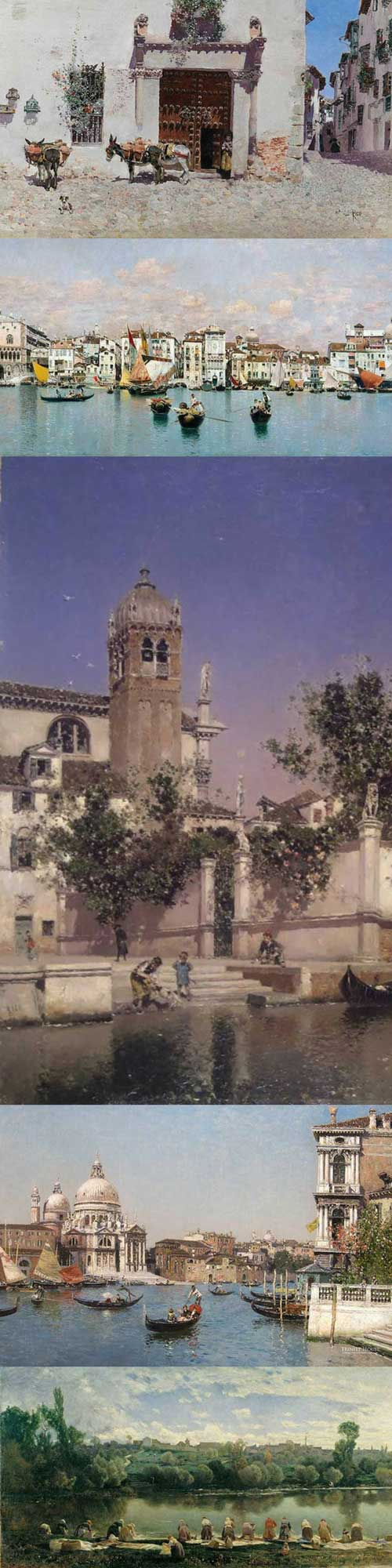 Elegant Realism By Martin Rico | Spanish Painter | Landscape Paintings | Cityscape Paintings | Art | Create