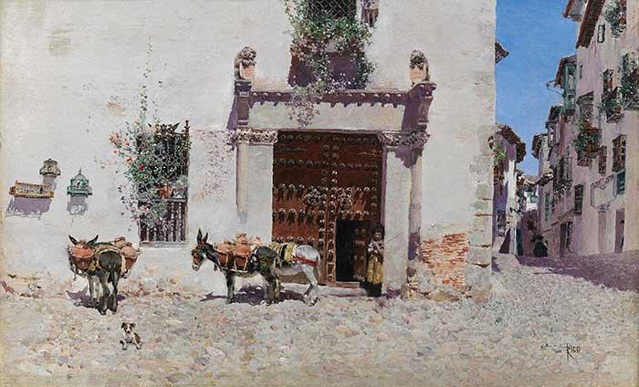 Martin Rico, Puerta De Una Casa En Toledo | Cityscape Painting | Realistic Painting