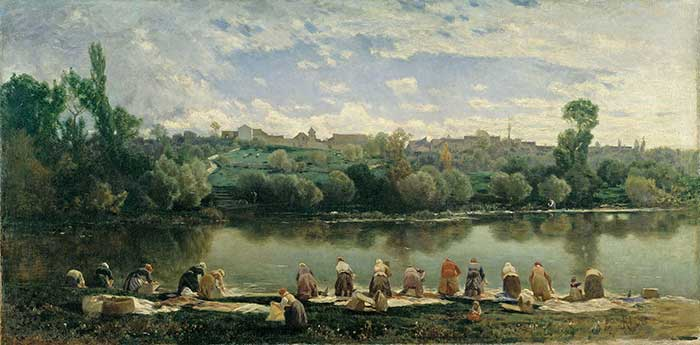 Martin Rico, The Washerwomen of La Varenne
