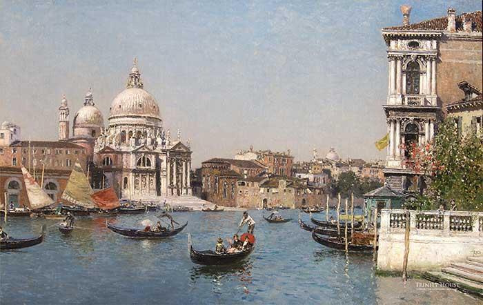 Martin Rico, Veduta Veneziana, Il Baciano San Marco e La Salute | Cityscape Painting | Realistic Painting