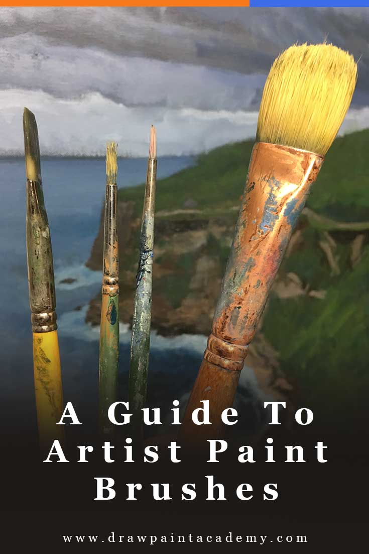 The ultimate guide to artist paint brushes. Oil painting for beginners | oil painting supplies | art tips.