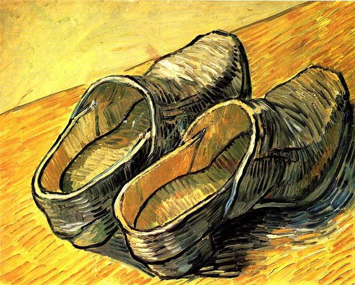 Vincent van Gogh, Un par de zuecos de cuero, 1888 - Cómo usar líneas en tu arte