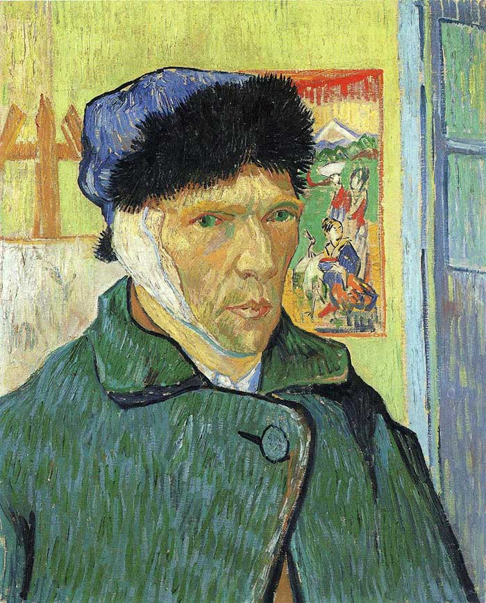 Facts About Vincent van Gogh | Vincent van Gogh, Self Portrait With Bandaged Ear, 1889