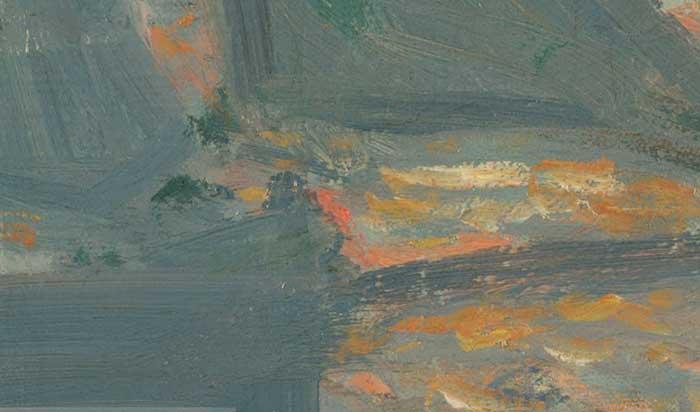 Claude Monet, Sunrise (Marine), 1873 Up Close 2