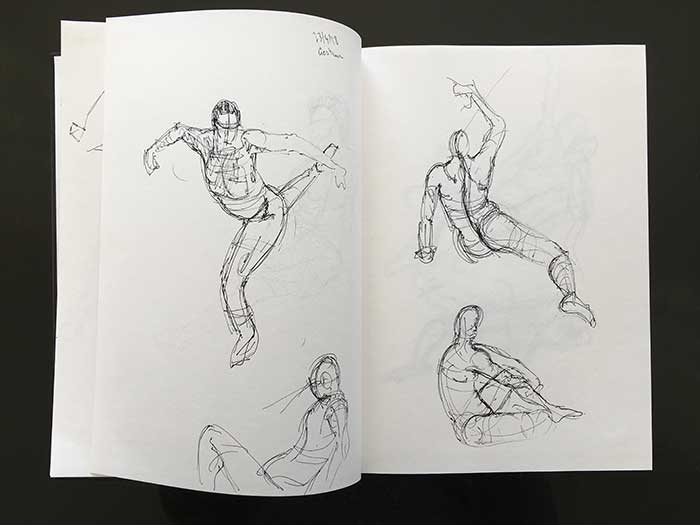 Gesture Drawing Sketchbook - Quick Poses