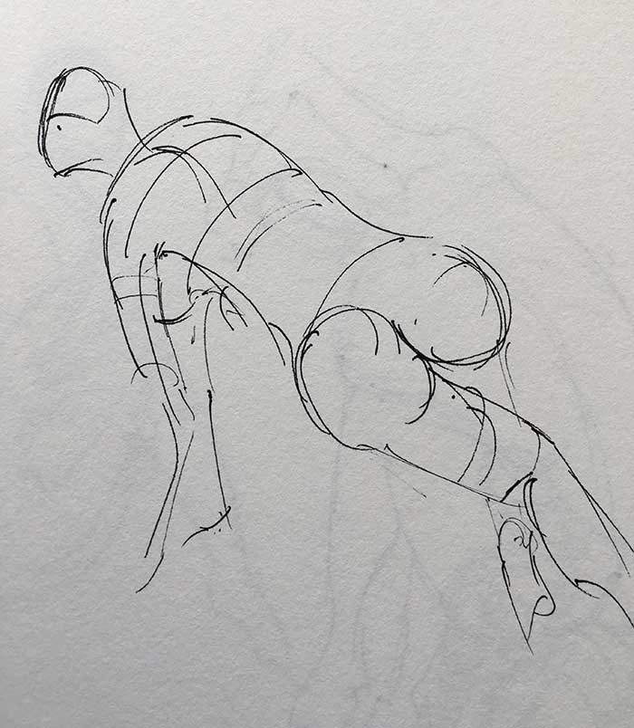 Gesture Drawing - Female 1 Minute Pose