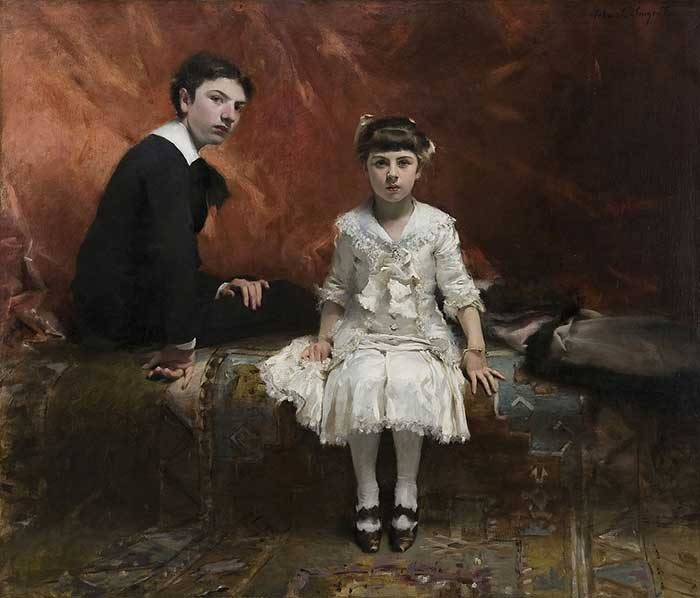 John Singer Sargent, Edouard And Marie Loise Pailleron, 1881 | Are Black And White Colors?