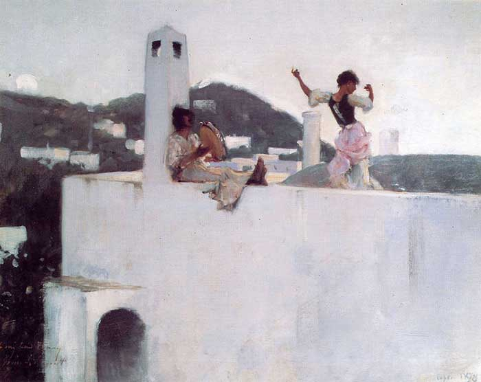 John Singer Sargent, Rosina Ferrara Dancing Tarantella, 1878