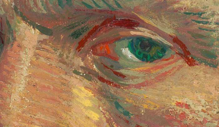 Vincent van Gogh, Self-Portrait, 1887 Up Close 2