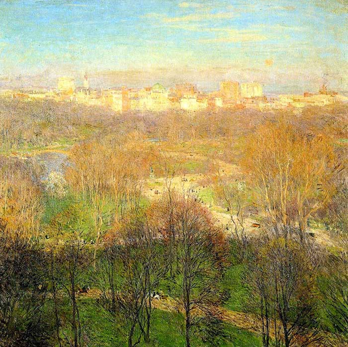 Willard Metcalf, Early Spring Afternoon, Central Park, 1911