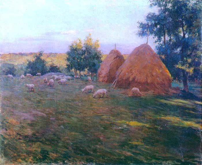 Willard Metcalf, Haystacks, 1888