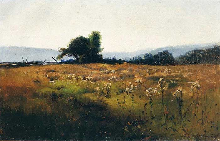 Willard Metcalf, Mountain View From High Field, 1877