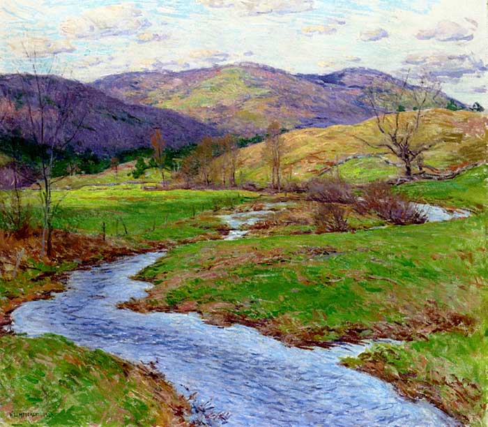 Willard Metcalf, Swollen Brook, 1923