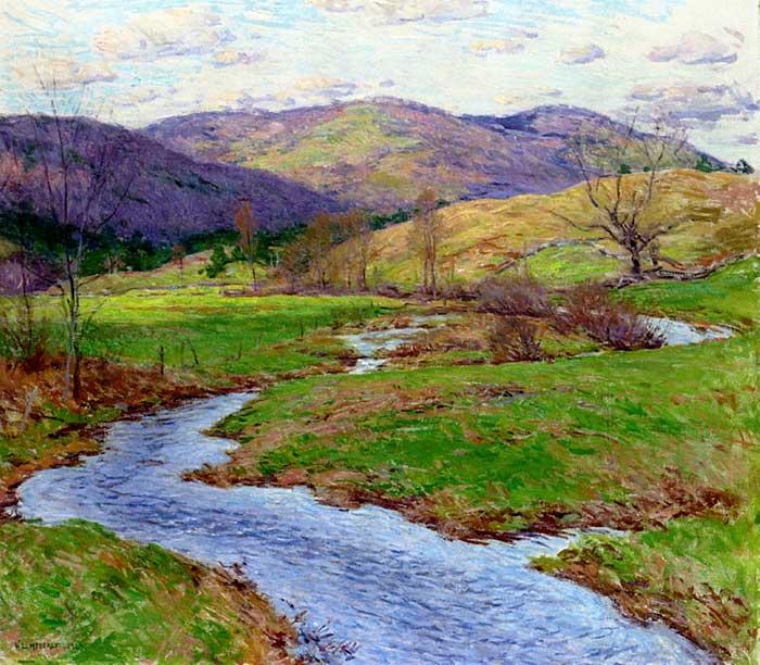 Willard Metcalf, Swollen Brook, 1923