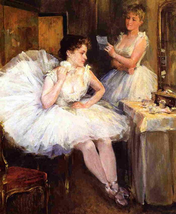Willard Metcalf, The Ballet Dancers