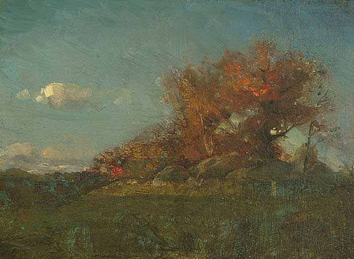 Willard Metcalf, The Fire Of Autumn, 1877