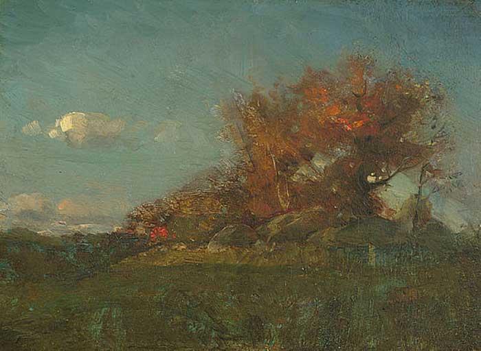 Willard Metcalf, The Fire Of Autumn, 1877