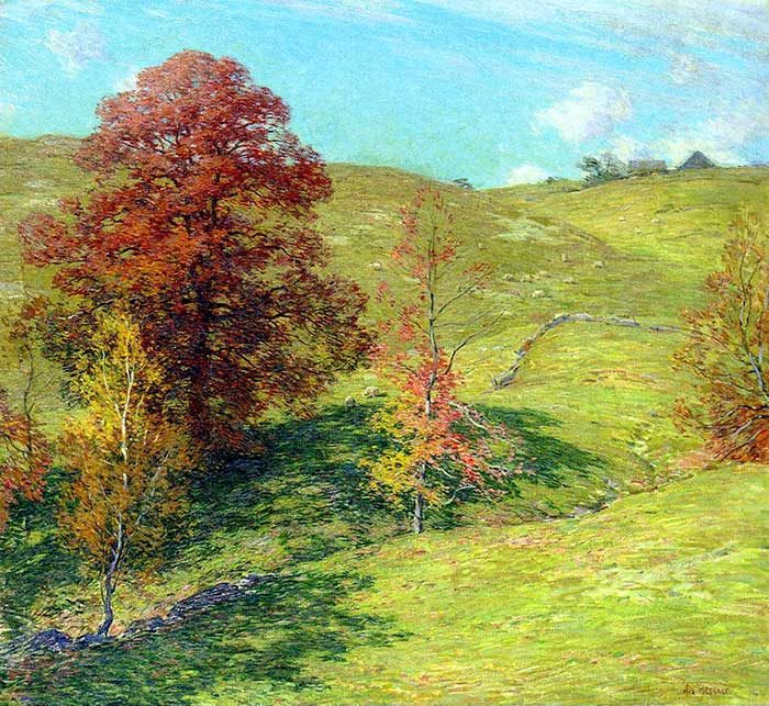 Willard Metcalf, The Red Oak, 1911