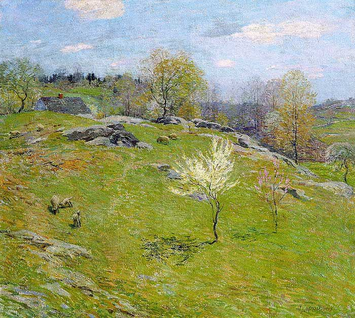 Willard Metcalf, Unfolding Buds