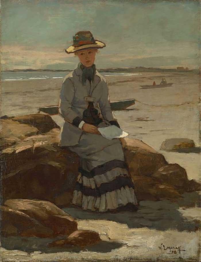 Willard Metcalf, Young Lady On the Beach, 1878