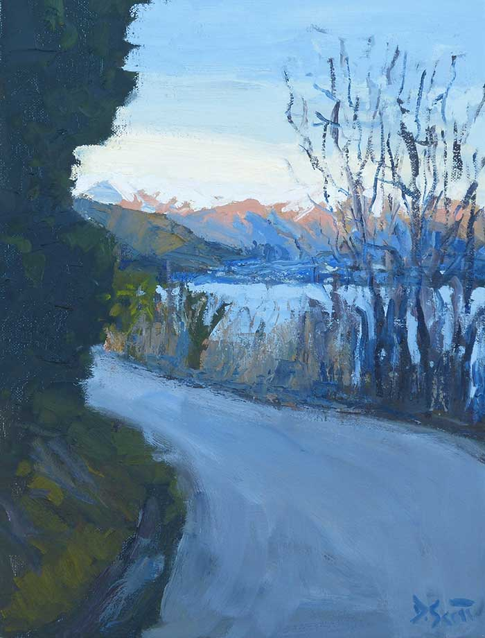 Afternoon In Queenstown, Oil, 16x12 Inches, 2017