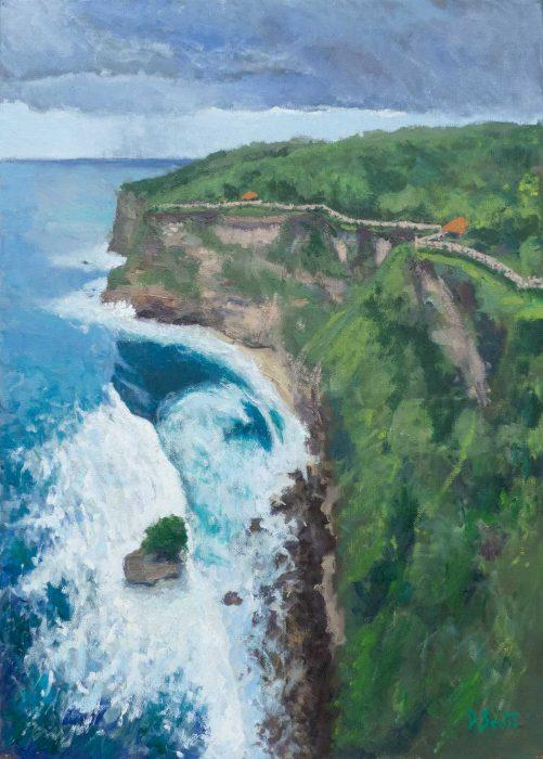 Dan Scott, Bali, Oil On Canvas, 21x28 Inches, 2018