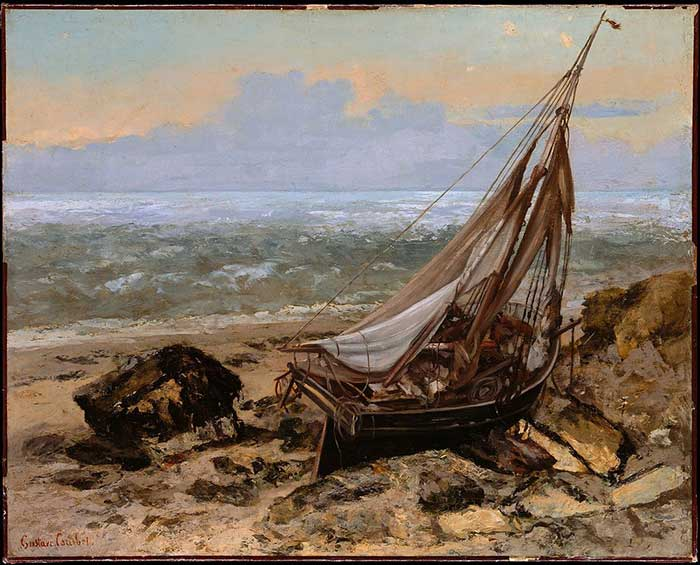 Jean Désiré Gustave Courbet, Beach at Dieppe, The Fishing Boat