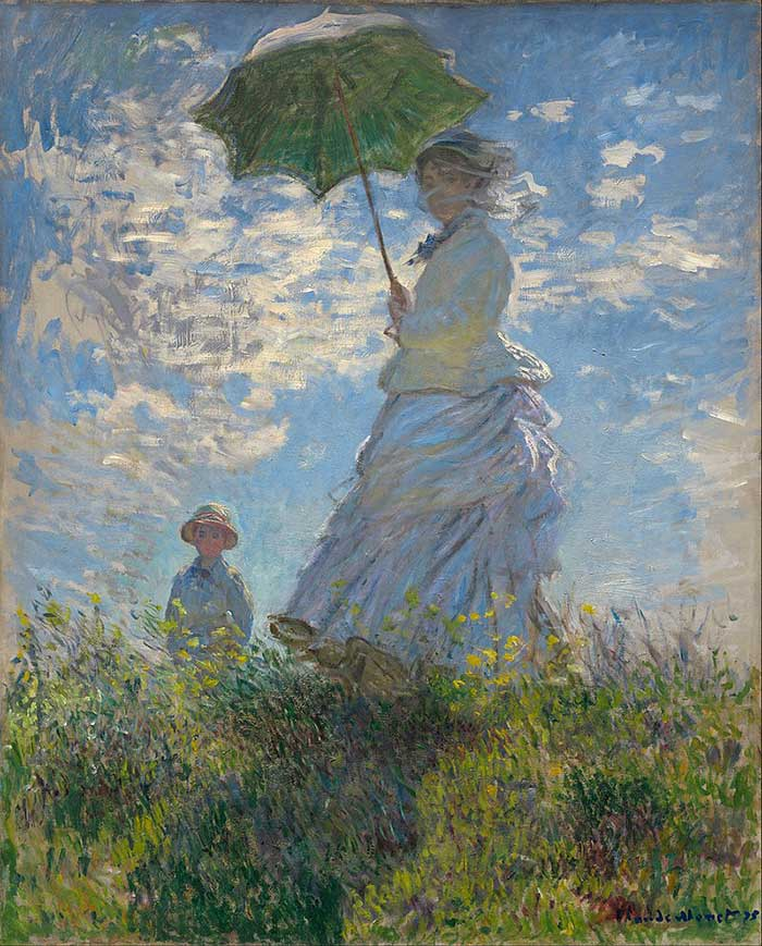 Claude Monet, Woman With A Parasol - Madame Monet And Her Son, 1875