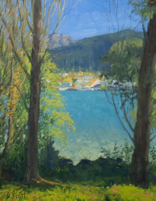 Dan Scott, Queenstown, High Contrast, 16x12 Inches, Oil, 2019 1200W Medium