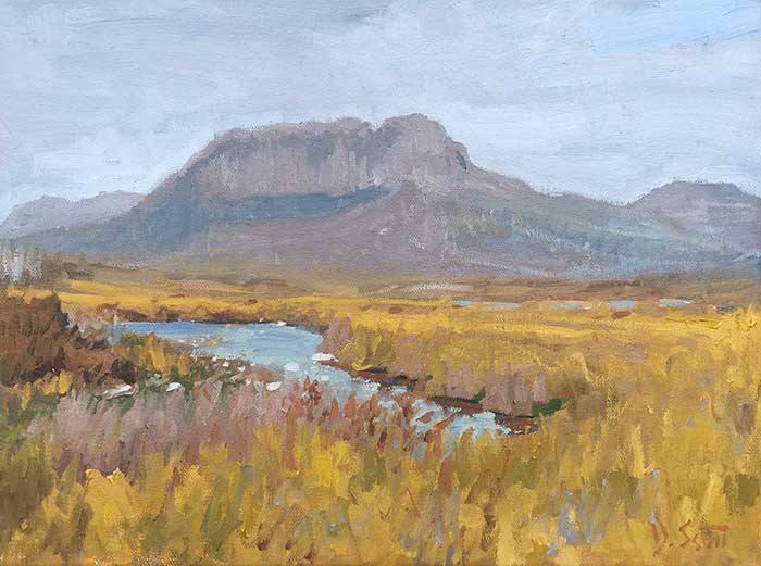 Finished Painting - Overland Track, Oil On Canvas