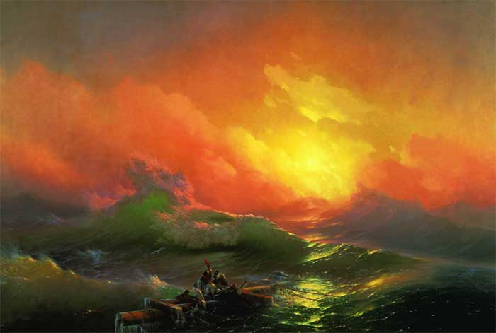 Ivan Aivazovsky, The Ninth Wave, 1850