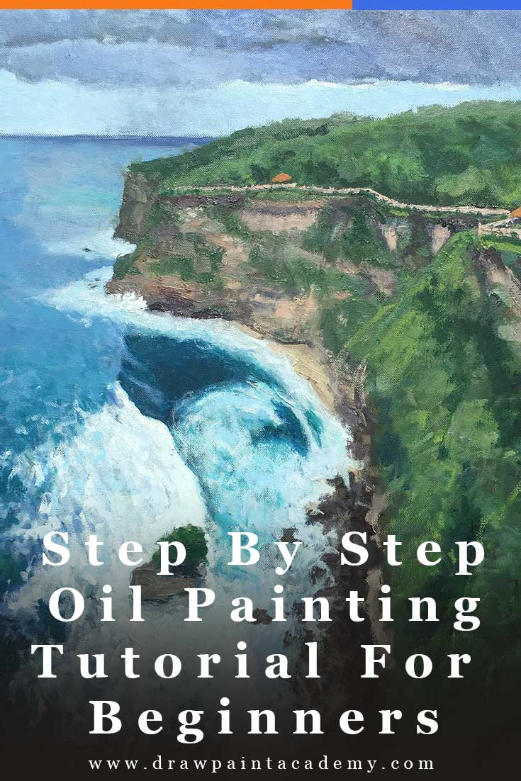 Step By Step Oil Painting Tutorial For Beginners - Bali Painting | Painting For Beginners #drawpaintacademy.com