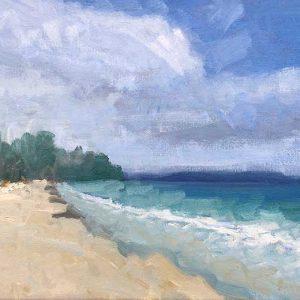 Finished Painting. Tasmania Seascape Painting Tutorial