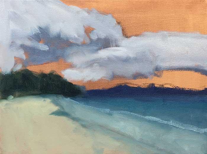 4. Block In, Simple Seascape Painting Tutorial