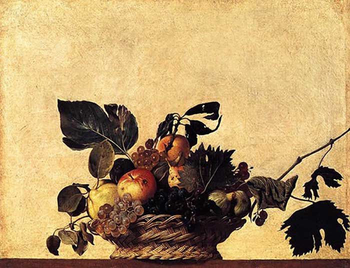 Caravaggio, Basket of Fruit, 1599