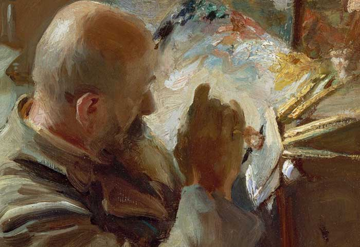 Close-Up An Artist In His Studio, John Singer Sargent
