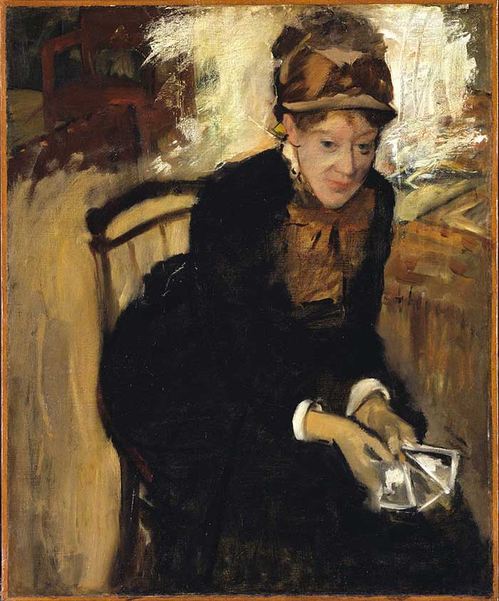 Edgar Degas, Miss Cassatt, Holding The Cards, 1880-1884