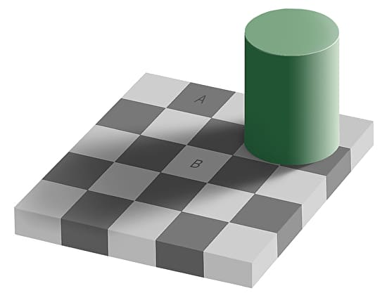 Gray Square Optical Illusion Trick A