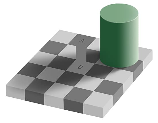Gray Square Optical Illusion Trick